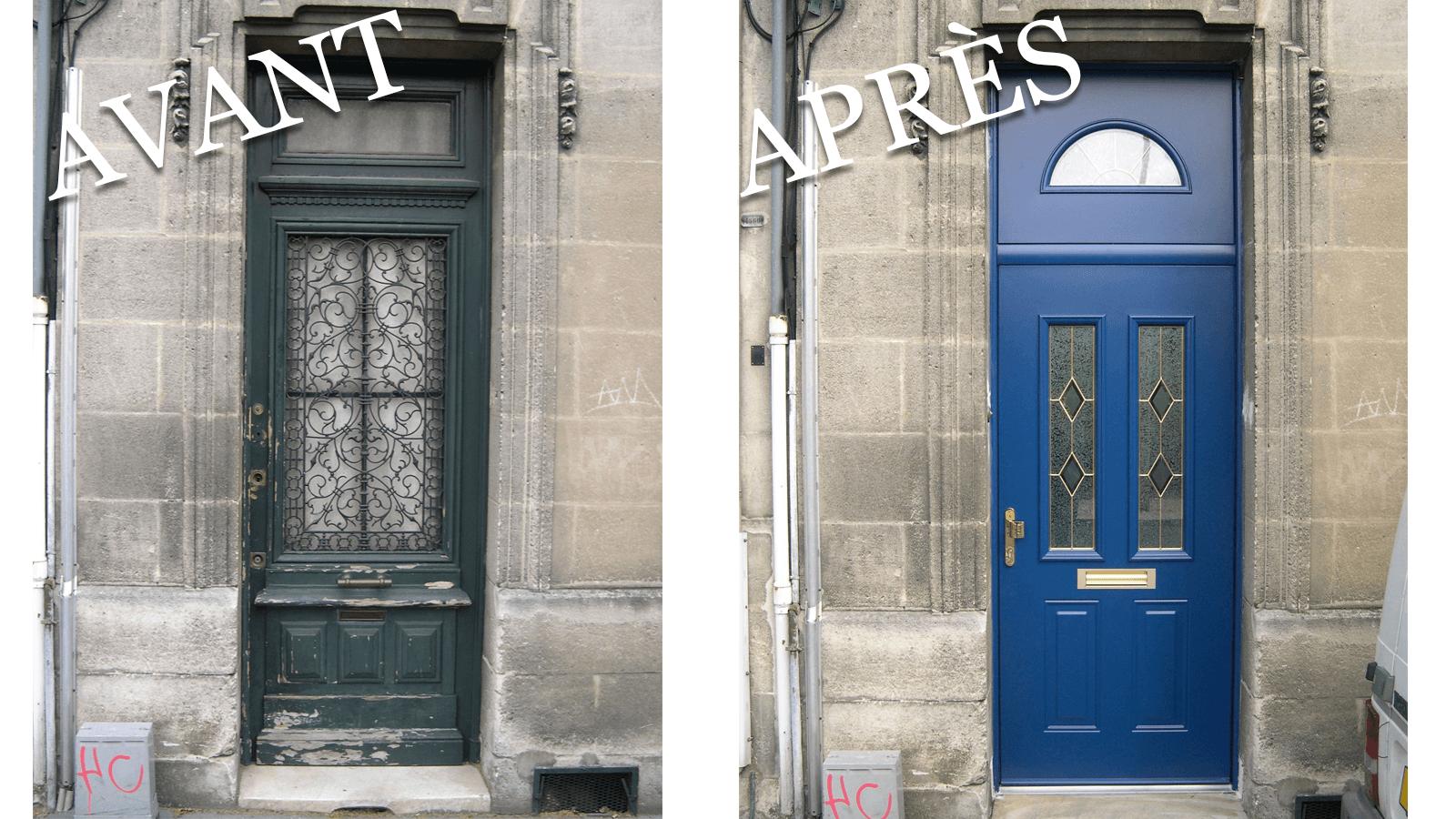 Portes d 39 entr e menuisier menuiserie patrick couton - Portes d entree vitrees ...
